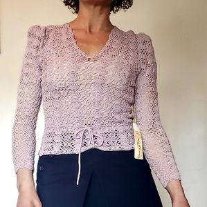 Vintage 1970s Oscar De La Renta crochet sweater